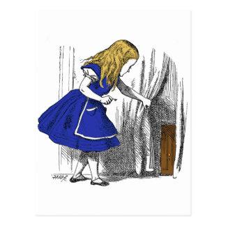 Alice in Wonderland - The Small Door Postcard