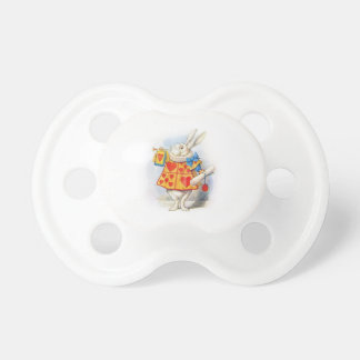 Alice in Wonderland The White Rabbit Baby Baby Pacifiers