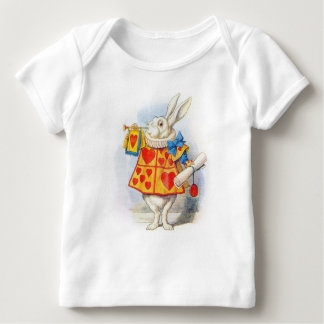 Alice in Wonderland The White Rabbit Baby T Shirts