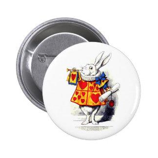 Alice in Wonderland The White Rabbit by Tenniel 6 Cm Round Badge