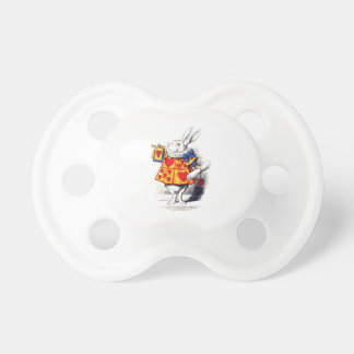 Alice in Wonderland The White Rabbit by Tenniel Baby Pacifiers