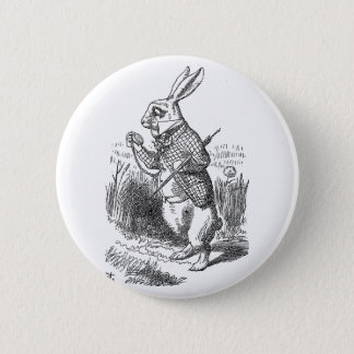 Alice in Wonderland the White Rabbit vintage 6 Cm Round Badge