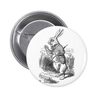 Alice in Wonderland the White Rabbit vintage 6 Cm Round Badge