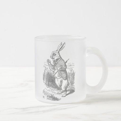 Alice in Wonderland the White Rabbit vintage Coffee Mugs
