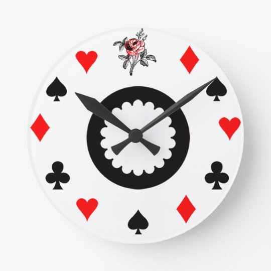 Alice in Wonderland Themed Round Clock