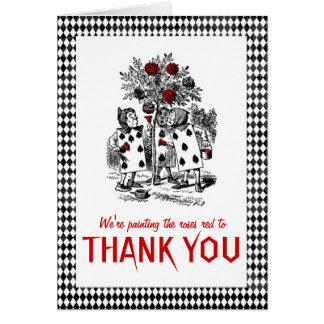 Alice in Wonderland Themed Thank You Card