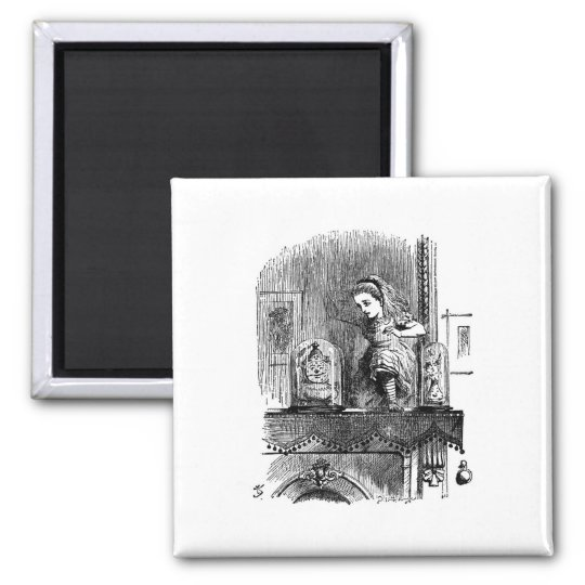 Alice in Wonderland Through the Looking Glass Square Magnet