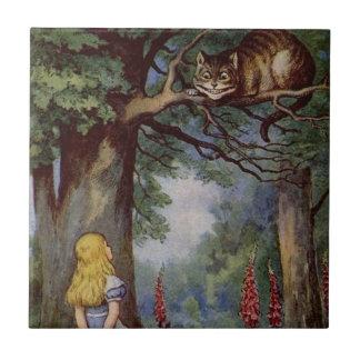 Alice in Wonderland Tile, Cheshire Cat Tile