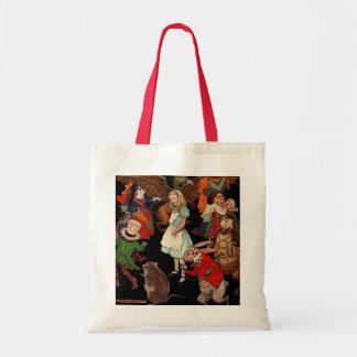 Alice in Wonderland Canvas Bags