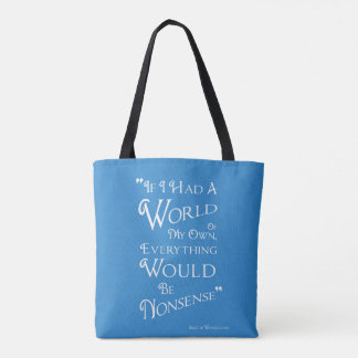 Alice in Wonderland Tote Bag - Quote
