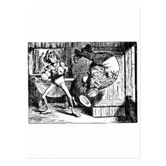 Alice in Wonderland Tumble Shirt Postcard