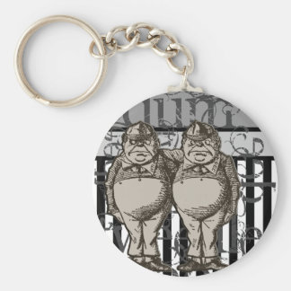 Alice In Wonderland Tweedledum & Tweedledee Grunge Key Ring