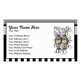 Alice In Wonderland Tweedledum & Tweedledee Grunge Pack Of Standard Business Cards