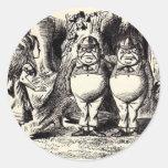 Alice in Wonderland: Twiddle Dee and Twiddle Dum Classic Round Sticker