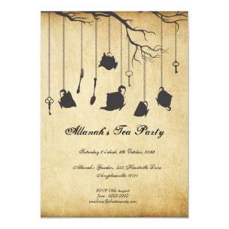 Alice in Wonderland Unbirthday Birthday Tea Party 13 Cm X 18 Cm Invitation Card