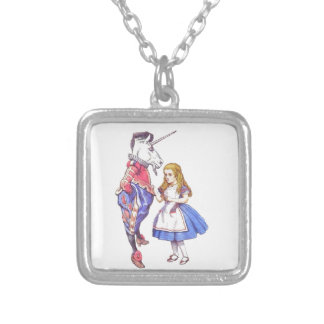 Alice in Wonderland & Unicorn pendant necklace
