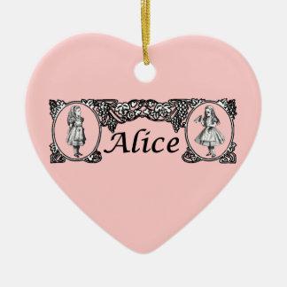 Alice in Wonderland Vintage Frame Christmas Ornament