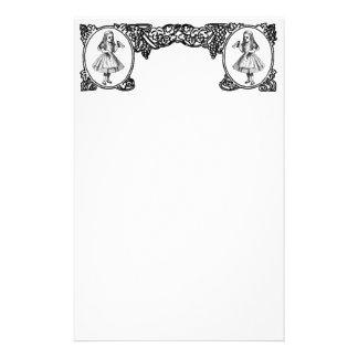 Alice in Wonderland Vintage Frame Stationery Paper
