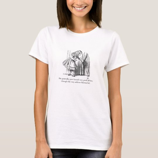 Alice in Wonderland Vintage Illustration T-Shirt