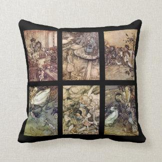 Alice In Wonderland Vintage Poster Set Of 6 Images Cushion