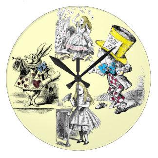 Alice in Wonderland Vintage Wall Clock