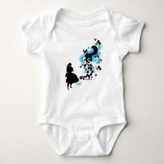 ALICE in WONDERLAND w/Cheshire Baby Bodysuit