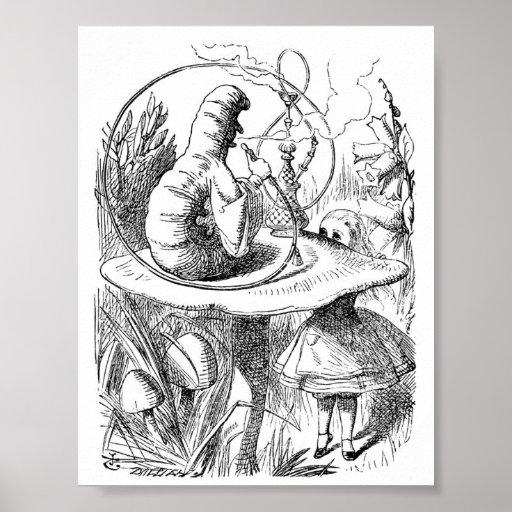 Alice in Wonderland Watch - The Caterpillar Poster
