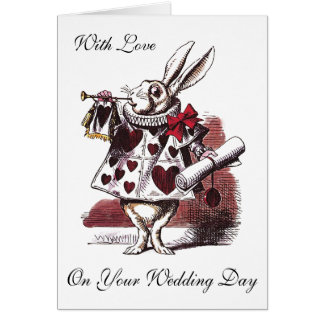 Alice in Wonderland - Wedding Greeting Card