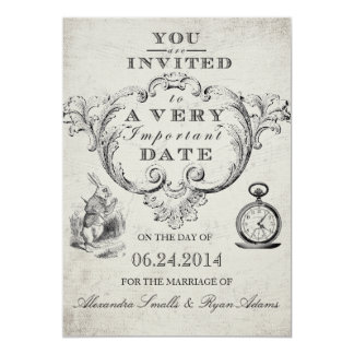 Alice in Wonderland Wedding Invitation