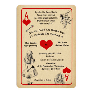 Shop Zazzle's selection of Alice in Wonderland wedding invitations for your special day!