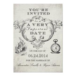 Alice in Wonderland Wedding Invitation