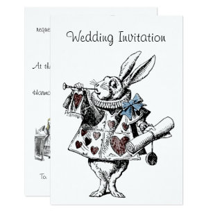 Alice In Wonderland Wedding Invitations Announcements Zazzlecouk