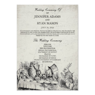 Alice In Wonderland Wedding Program