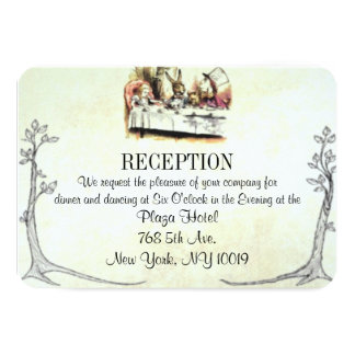 Alice in Wonderland Wedding Reception Card