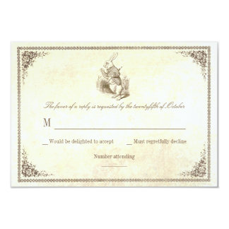 Alice in wonderland wedding RSVP cards 9 Cm X 13 Cm Invitation Card