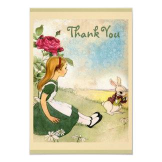 Alice in Wonderland Wedding Thank You 9 Cm X 13 Cm Invitation Card