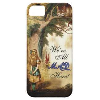 Alice in Wonderland Were All Mad Here iPhone 5 Cover