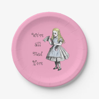 Alice in Wonderland We're All Mad Here Paper Plate