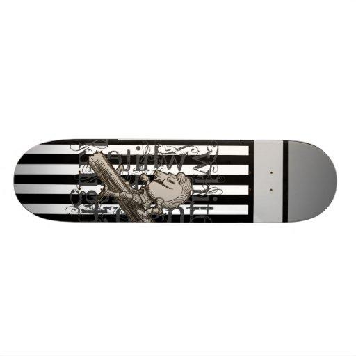 Alice In Wonderland White Knight Grunge Custom Skateboard