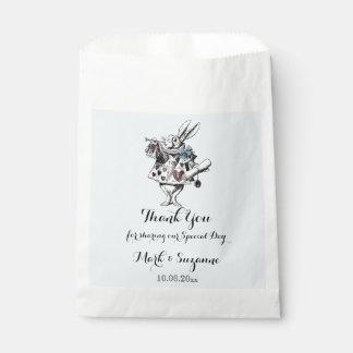 Alice in Wonderland White Rabbit Art Favour Bags