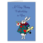 Alice in Wonderland: White Rabbit Card