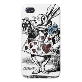 Alice in Wonderland White Rabbit Case Covers For iPhone 4