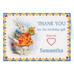 Alice in Wonderland White Rabbit Custom Thank You