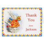 Alice in Wonderland White Rabbit Custom Thank You Note Card