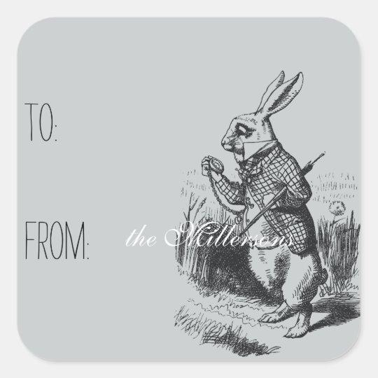 Alice in Wonderland White Rabbit Gift Tag