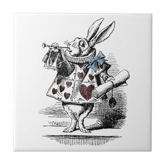 Alice in Wonderland White Rabbit Gift Tile