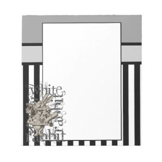 Alice In Wonderland White Rabbit Grunge Notepad