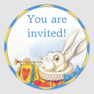 Alice in Wonderland White Rabbit Invitation Seals