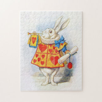 Alice in Wonderland White Rabbit Jigsaw Puzzle
