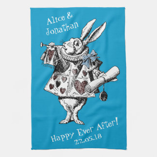 Alice in Wonderland White Rabbit Kitchen Towel